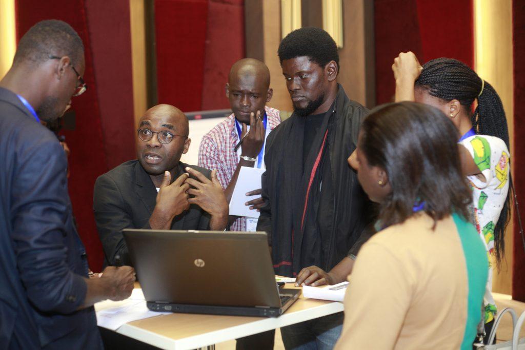 speed-geeking at TechCamp Abidjan