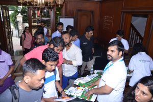 Participants sign in on day one of TechCamp Chennai.