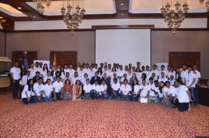 Participants, trainers, and guests come together for the TechCamp Chennai group photo.